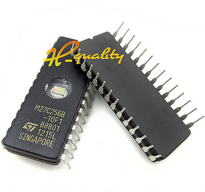 2Pcs Ic M27C256B-10F1 27C256 Cdip-28 St New