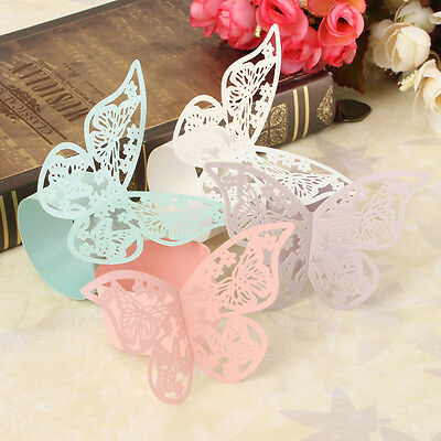 12pcs Little Butterfly Napkin Rings Wedding Party Holder Bridal Shower 4 Color