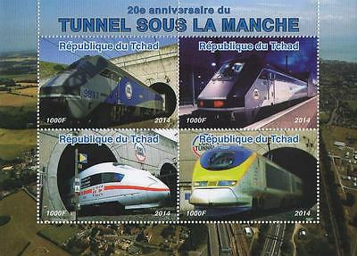 20th ANNIVERSARY OF THE CHANNEL TUNNEL TRAIN 2014 MNH STAMP SHEETLET