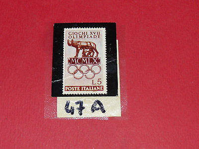 Timbres N°47 A & B Panini Olympia 1896-1972 Jeux Olympiques Olympic Games