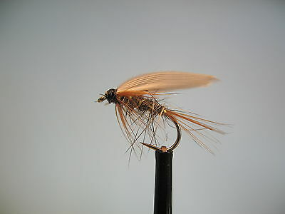 3 x SOLDIER PALMER WET FLY FISHING TROUT FLIES sizes8,10,12,14  FROM MGT TACKLE