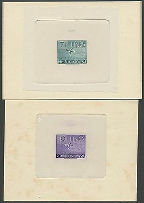"""Indonesia #362P-367P Die Proof On India On Card Set/6 """"uno"""" Minor Foxing Bs3595"""