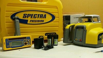Trimble Spectra Precision LL300N Level W/HL450 RECEIVER & RECHARGABLE BATTERIES
