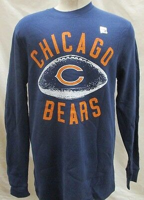 Chicago Bears Men s L XL 2XL Tail Gate Long Sleeve Thermal Shirt NFL Blue  A15 81673a767