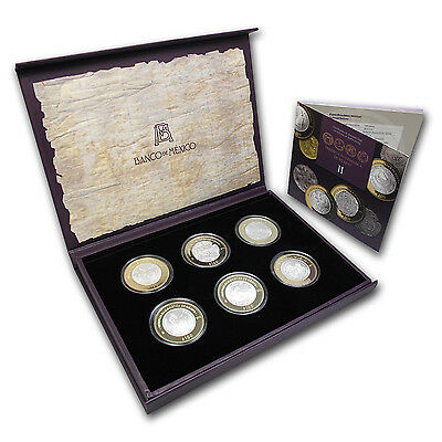 2012 Mexico 6-Coin Silver Numismatic Heritage Set (Series II) - SKU #76202
