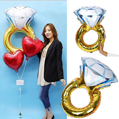 Diamond Wedding Ring Helium Foil Balloon Engagement Propose Wedding Party