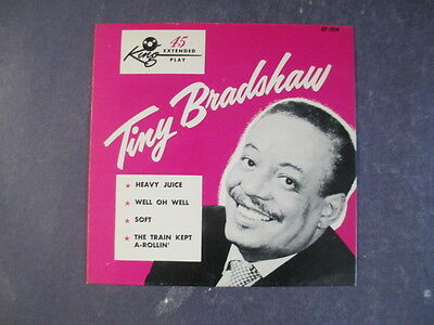 """Tiny Bradshaw Cardboard 7"""" Picture Sleeve Only King Records Jazz"""