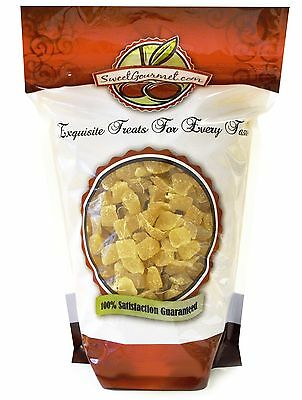 SweetGourmet Dried Dice Ginger with Icing Sugar Unsulpured - 1Lb FREE SHIPPING
