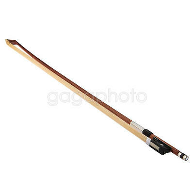 1/8 Size Mahogany Violin Bow Plastic Frog White Hair for Newbie Child Brown