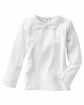 New OshKosh Solid White Peter Pan Collar Shirt Top LS NWT 5T 4T 3T 2T 24m 18m 12