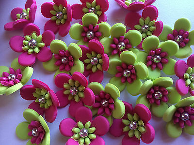 15 Blossom Edible Cupcake Toppers Cake Decorations Approx 3Cm Multi Flowers