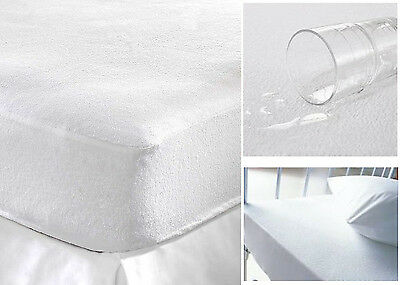 Luxury Mattress Protector Waterproof Terry Towel Non-Allergnic In All Sizes