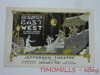 c.1920 Fay Bainter in EAST IS WEST Play Brochure Jefferson Theater St. Louis MO