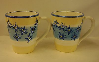 Block China FRENCH IRIS Coffee Mugs SOLD IN PAIRS -More ITEMS Available
