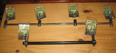 rod hutchinson and prologic buzzbars and rod rest heads sets