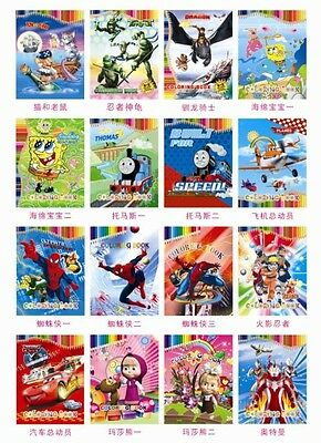 Kids Children Crayon Pencil Painting Drawing Coloring Colouring Stickers Book 3+