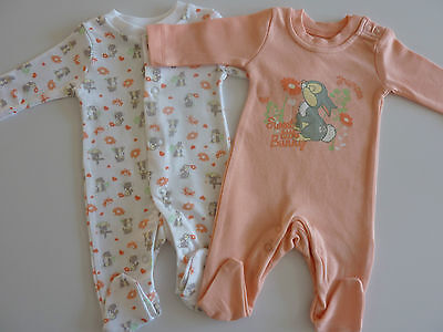 DISNEY 2 Gorgeous Little THUMPER 'Sweet Little Bunny' Sleepsuits NWT