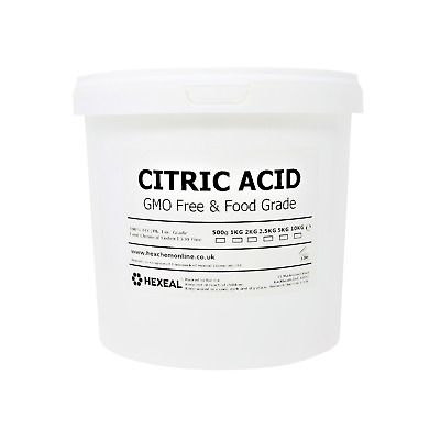 CITRIC ACID | 2.5KG BUCKET | 100% Anhydrous | Fine | GMO Free | BP/FCC Grade