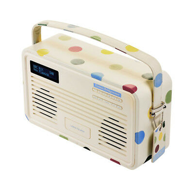 Viewquest Retro Emma Bridgewater DAB+ FM Radio 30-Pin Docking Station Polka Dot