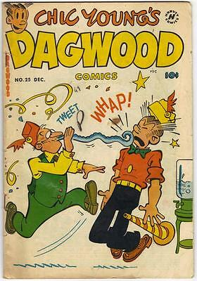 Chick Young's DAGWOOD #25 - DEC. 1952 (HARVEY)  GD (2.0)