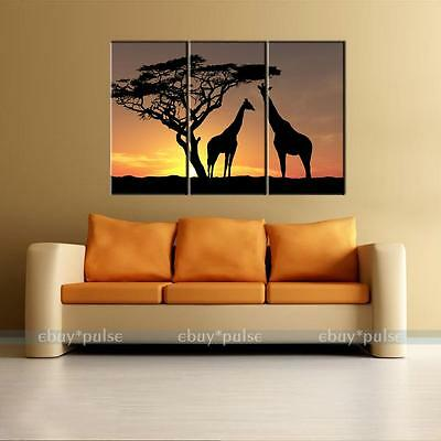 60cm*97cm Unframed Giraffe IN Sunset HD Canvas Print Wall Art Painting Picture