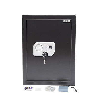 HOMCOM Biometrc Flat Recessed Fingerprint Digital Security Gun Cash Safe Box