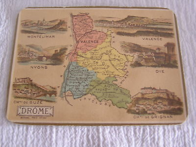 Antique French Map Card Paris Mon B Salsac Drome France Drink Cocktail Bar Menu