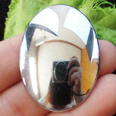 Gorgeous 40x30mm Silver Hematite Oval CAB CABOCHON T3219