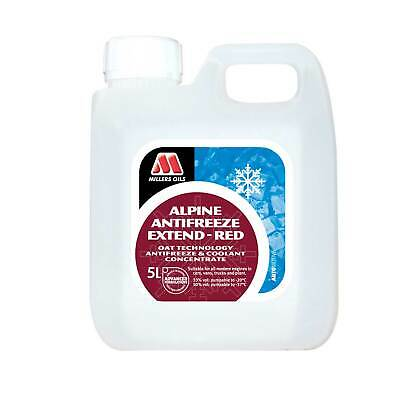 Millers Oils 5 Litres Of Red Alpine Long Life Summer Coolant / Antifreeze
