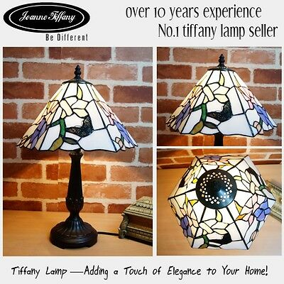 """2015 New Design@Amazing 12"""" Butterfly Museum Quality Floral Tiffany bedside Lamp"""