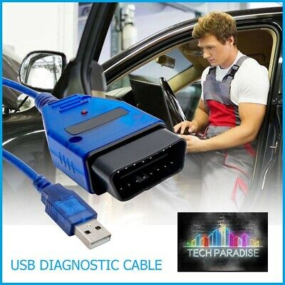 Interface Valise diagnostic for VagCom 409.1 KKL OBDII 2 Audi Skoda Seat VW + CD