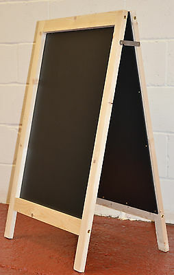 2 Large Wooden Pavement Sign A-Board Chalkboard / Cafe / Shop/ Pub Painted Panel