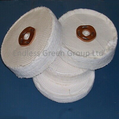 Stitched Cotton Buffing Wheel  Polish Steel Metal Plastic & Resin - Size Choice