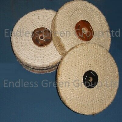 SISAL buffing wheel -  ONE SECTION WIDE Coarse Polishing Mop - Diameter Choice
