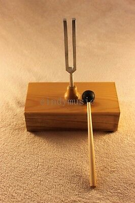 Tuning Fork A 440 hz with Wood Resonator box guitar violin piano NEW