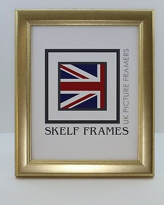 SKELF FRAMES - CHAMPAGNE GOLD ~  PICTURE PHOTO FRAME with GLASS