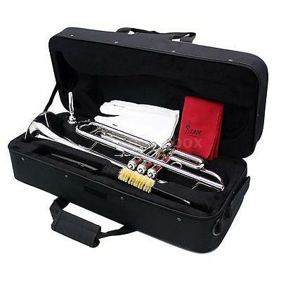 School Band Trumpet Bb B Flat Brass Exquisite with Mouthpiece Care Kit+Case 03AJ