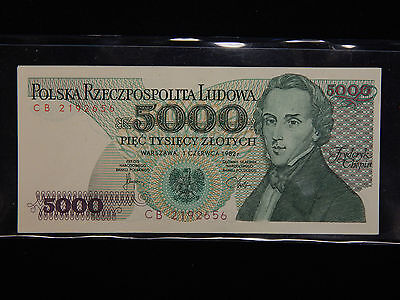 1982 Poland 5000 Zlotych GEM Uncirculated - 2 Notes