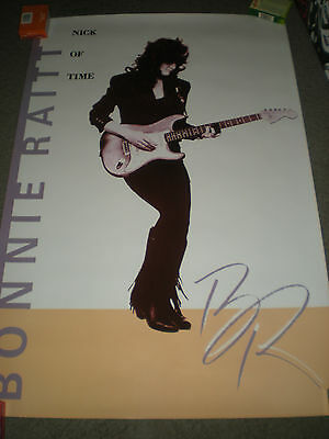 "BONNIE RAITT - ORIGINAL NICK OF TIME PROMO POSTER - 1989 - 24"" x 36"""