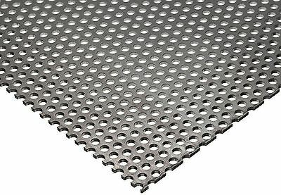 """304 Stainless Steel Perforated Sheet .035"""" (20 ga.) x 8"""" x 12"""" - 1/8"""" Holes"""