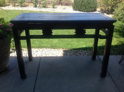 Antique Lacquer Carved Chinese Ming Altar Prayer Console Table 18th 19th Century
