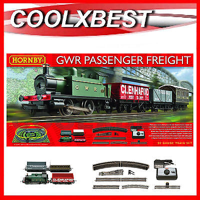 NEW HORNBY OO GWR 0-4-0 PASSENGER FREIGHT COMPLETE TRAIN SET 155 x 113CM R1138