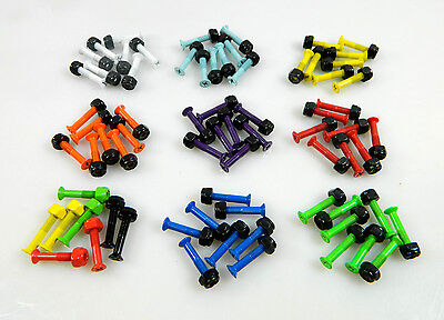 "1.25"" Inch Multiple Color Hardware Bolts Screws for Skateboard Longboard"