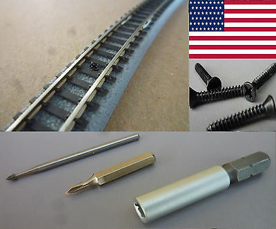 SCREWS FOR ROKUHAN TRACKS, 400 PCS SCALE Z, with TOOLS / POSTAGE-FREE (US)