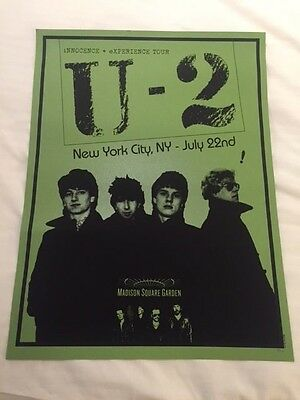 U2 Msg Madison Square Garden Poster Nyc Limited Edition --- Green Night #3