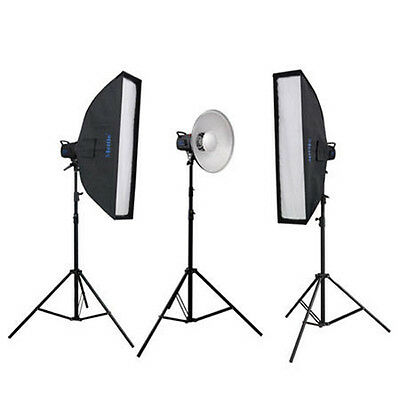 METTLE Studioset BLACKLINE 350 Studioblitz-Set mit Striplight und Beauty Dish