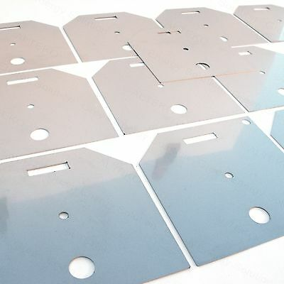 1 PCS ELECTRODE PLATE 316L STAINLESS STEEL 105x105 mm MAKE YOUR OWN HHO DRY CELL