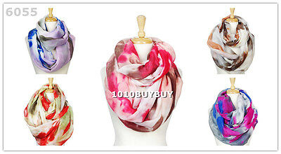 US Wholesaler 12PC -Assorted Colors- Tiedye Soft Infinity Scarf Large Size #6055