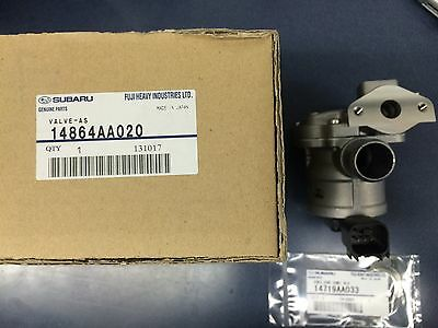 Subaru LH Secondary Air Suction Valve Kit 2006-14 WRX STi 05-08 Forester XT OEM
