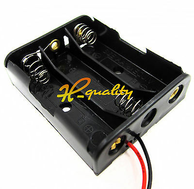 10PCS Plastic Battery Storage Case Box Holder For 3 X AA 3xAA 4.5V wire leads